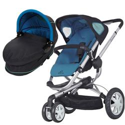 Quinny CV155BFW Buzz 3 Pram Set Bassinet - Blue Scratch