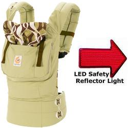 Ergo Baby BC344BPRNL Original Baby Carrier - Bamboo Forest with LED Safety Reflector Light