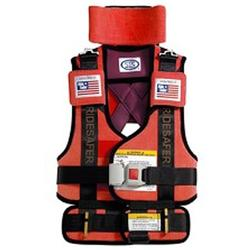 Safe Traffic Systems JO10101RWB Safe Rider 2 Travel Vest Small (30 - 60 lb) - Red