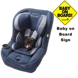 Maxi-Cosi CC099BIH - Pria 70 Car Seat w/Baby on Board Sign (Dress Blue)