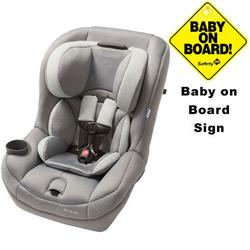 Maxi-Cosi CC099SLG - Pria 70 Car Seat w/Baby on Board Sign (Steel Grey)