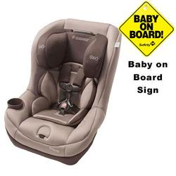 Maxi-Cosi CC099WBN - Pria 70 Car Seat w/Baby on Board Sign (Walnut Brown)