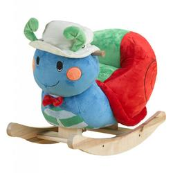 Rockabye 85042 Sonny Snail Rocker with seat belt harness