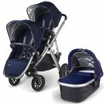 UPPAbaby 0112-TAY Taylor VISTA Double Stroller Kit with Bassinet - Indigo