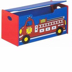 GiftMark 1442 Fire Engine Toy Box