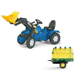 Kettler 036219 Holland Pedal Tractor w/Front Loader & Hay Wagon
