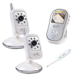 Summer Infant 28530, SafeSight Digital Color Video Monitor with 2 cameras & Thermometer