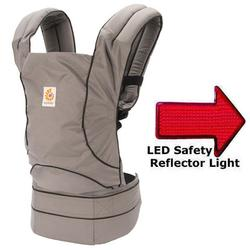 Ergo Baby BC024001NL Travel Collection Baby Carrier - Urban Chic - Graphite with LED Safety Reflector Light