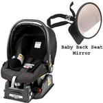 Peg Perego Primo Viaggio sip 30/30 Car Seat w/ Back Seat Mirror - Denim Black