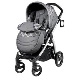 Peg Perego IPBR30NA34UT53PG53 Book Plus Stroller - Pois Grey / Charcoal Grey Dots