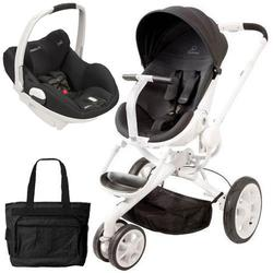 Quinny CV078BIK Moodd Prezi/White Travel system with Diaper bag and car seat - Black Irony