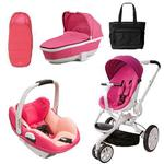 Quinny CV078BFU Moodd Prezi/White Complete Collection in Pink Passion