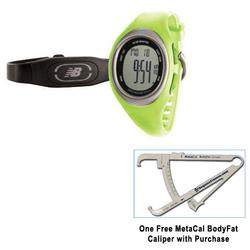 New Balance 50126NB, N4 Lime FE with MetaCal BodyFat Caliper