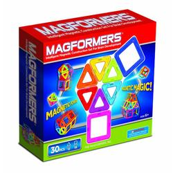 MagneticCity 63076, Magformers Magnetic Building Construction Set - 30 Piece Rainbow Set