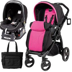 Peg Perego IPBR30NA34DX13MJ29 Book Plus Stroller - Fucsia - Nero/Hot Pink