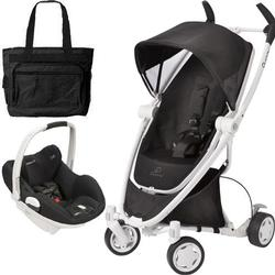 Quinny Zapp Xtra Travel system with diaper bag and  White/Prezi car seat - Devoted Black