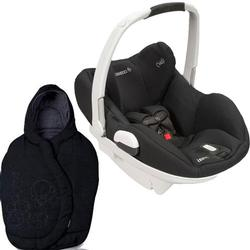Maxi-Cosi White Collection Prezi Car Seat Devoted Black w/Total Black Footmuff