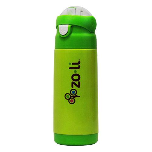 Zoli Zo-li Vacuum insulated straw drink bottle DASH - Green