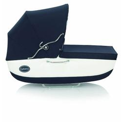 Inglesina AB06E0NAPUS Classica Bassinet with Diaper Bag Nappa - Navy/White