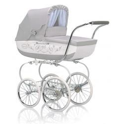 Inglesina CLASS12BTL Classica Pram with Diaper Bag and Raincover -  Betulla (Light Gray/White)