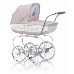 Inglesina CLASS12PES Classica Pram with Diaper Bag and Raincover - Pesca (Pink/White)