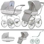 Inglesina SYSTM12BTL Classica Pram and Seat with Raincover - Betulla (Light Gray/White)