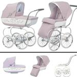 Inglesina SYSTM12PES Classica Pram and Seat with Raincover - Pesca (Pink/White)