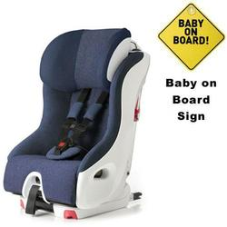 Clek FO12U1-BLW, foonf convertible seat w/Baby on Board Sign - blue moon