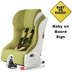 Clek  foonf convertible seat w/Baby on Board Sign - dragonfly