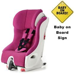 Clek FO12U1-PKW, foonf convertible seat w/Baby on Board Sign - snowberry