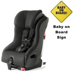 Clek foonf convertible seat w/Baby on Board Sign - Drift