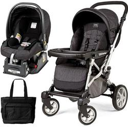 Peg Perego Uno Stroller Pram - Denim Black travel system
