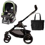 Peg Perego Book Chassis in Black with Nero Black Car Seat & Diaper Bag