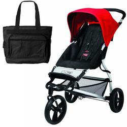 Mountain Buggy Mini Stroller - Chili with Diaper Bag
