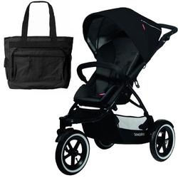 Phil & Teds NAV_V1_5_200_USA Navigator Buggy Stroller  w Diaper Bag  - Black