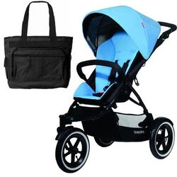 Phil & Teds NAV_V1_33_200_USA Navigator Buggy Stroller with Diaper Bag - Sky
