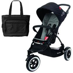 Phil & Teds DOT_V1_7_200_USA DOT buggy Stroller with Diaper Bag - Flint