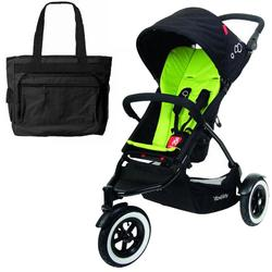 Phil & Teds DOT_V1_22_200_USA DOT buggy Stroller with Diaper Bag - Apple