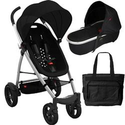 Phil & Teds SMBUGGYNBAS, Smart Buggy and Peanut Bassinet Bundle with Diaper Bag  - Black