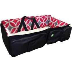 QuickSmart B10219USA 3 in 1 Diaper Bag/Travel Bassinet -  Black Red