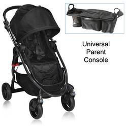 Baby Jogger 21310KT1 City Versa Stroller in Black With Parent Console