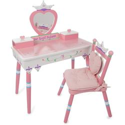 Levels of Discovery LOD620065 Her Royal Highness  Vanity Table and Chair Set