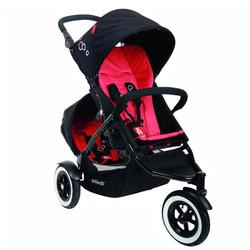 Phil & Teds DOT Buggy Stroller with Doubles Kit  - Chili