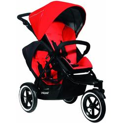 Phil & Teds Navigator Buggy Stroller with Doubles Kit - Cherry