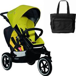 Phil & Teds Navigator Buggy Stroller with Doubles Kit - Golden Kiwi