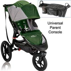 Baby Jogger Summit X3 Single Jogging Stroller with Parent Console - Green Gray