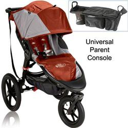 Baby Jogger Summit X3 Single Jogging Stroller with Parent Console - Orange Gray