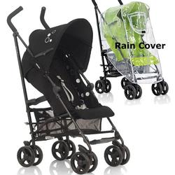Inglesina Swift Stroller with Rain Cover -  Vinile Black