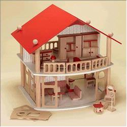 GiftMark 1645 Wood Dollhouse with Furniture