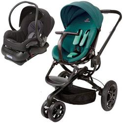 Quinny Moodd Stroller Travel System - Green Courage and Black Car Seat